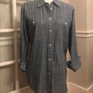Lauren Ralph Lauren striped chambray shirt XL